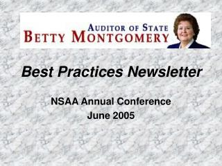 Best Practices Newsletter