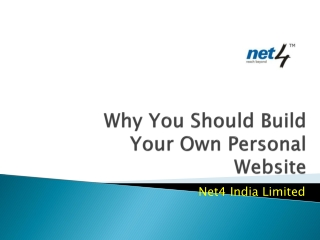 Why You Should Build Your Own Personal Website