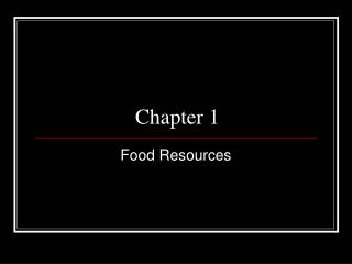Food Resources