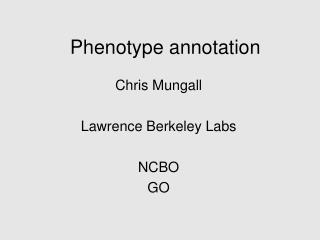 Phenotype annotation