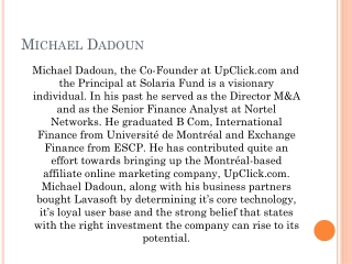 Michael Dadoun Upclick