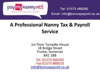 Nanny Tax Nanny