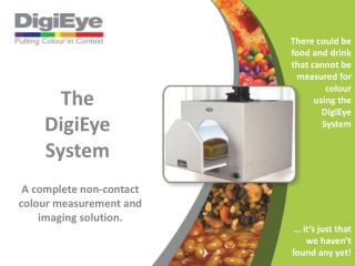 A complete non-contact colour measurement and imaging solution.