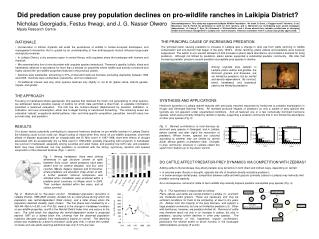 Did predation cause prey population declines on pro-wildlife ranches in Laikipia District?
