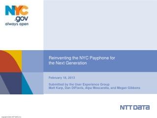NTT Data - Reinventing Payphones