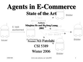 Agents in E-Commerce State of the Art Authors: Minghua He and Ho-fung Leung 2002