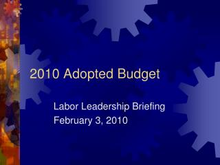 2010 Adopted Budget