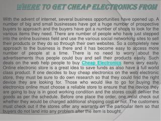 cheap electronics