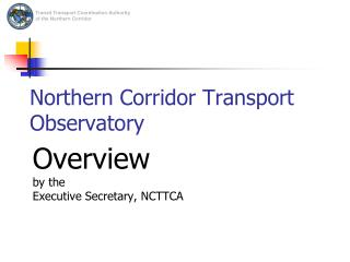 Northern Corridor Transport Observatory
