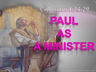 Paul  As  A  Minister