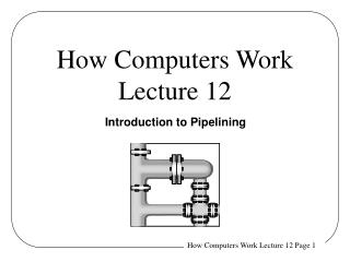 How Computers Work Lecture 12