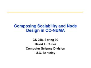 Composing Scalability and Node Design in CC-NUMA