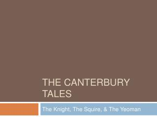 canterbury tales character analysis the knight