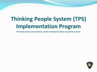 Thinking People System (TPS) Implementation Program