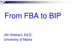 From FBA to BIP
