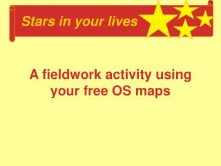 A fieldwork activity using your free OS maps