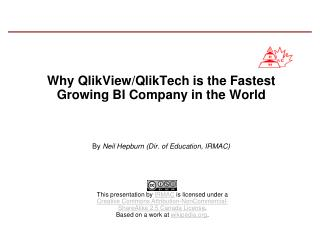 Why QlikView/QlikTech is the Fastest Growing BI Company in the World