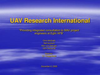 UAV Research International