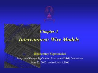 Chapter 3 Interconnect: Wire Models