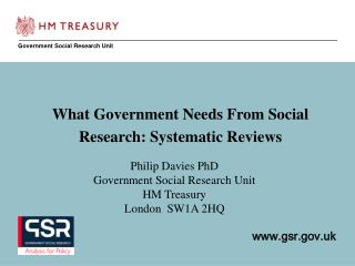 Government Social Research Unit