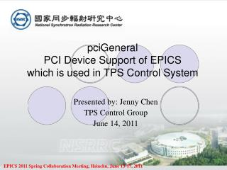 pciGeneral PCI Device Support of EPICS which is used in TPS Control System