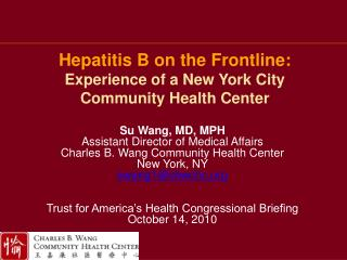 Hepatitis B on the Frontline: Experience of a New York City Community Health Center