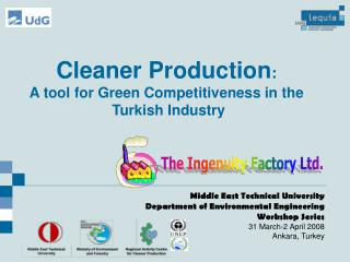 Cleaner Production:  A tool for Green Competitiveness in the  Turkish Industry