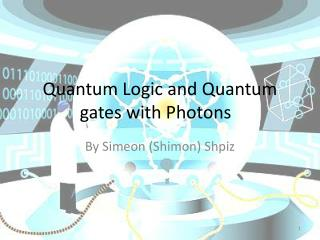 Quantum Logic and Quantum gates with Photons