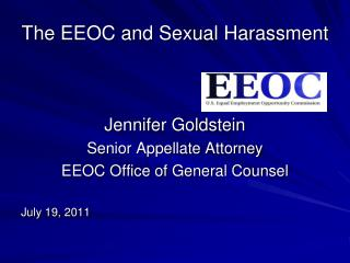 The EEOC and Sexual Harassment