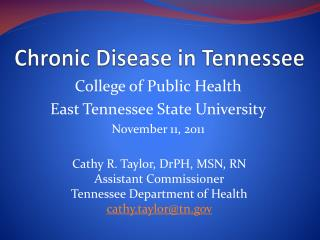 Chronic Disease in Tennessee
