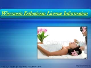 Wisconsin Esthetician License Information