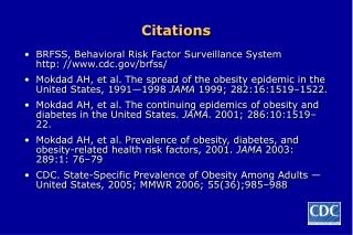 Obesity Trends Among U.S. Adults BRFSS, 1991-2002