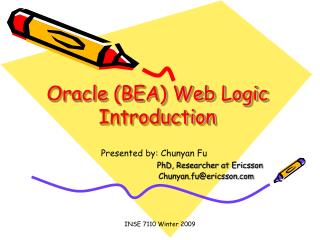 Oracle BEA Web Logic Introduction