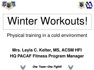 Winter Workouts!