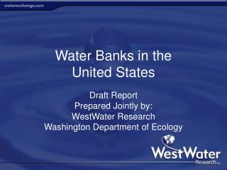 Water Banks in the  United States
