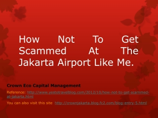 How Not To Get Scammed At The Jakarta Airport Like Me