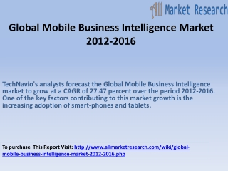 Global Mobile Business Intelligence Market