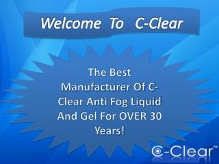 De-Blur With C-Clear Antifog