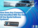 How Does Any Company Get Benefited With The Help Of Car Rent