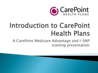 Introduction to CarePoint Health Plans