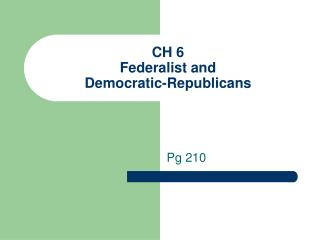 dbq republicans and federalists Dbq jeffersonian vs federalists dbq during the time period of 1801 to 1817 the conflicts were between two parties called the jeffersonian republicans and the.