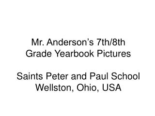 Mr. Anderson s 7th