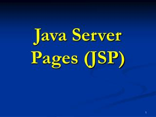 Java Server Pages (JSP)