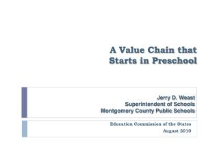 A Value Chain that Starts in Preschool