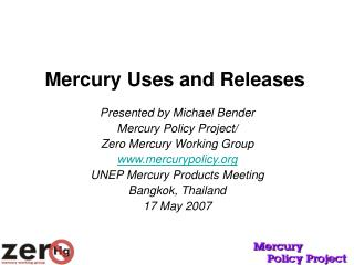 Mercury Uses and Releases