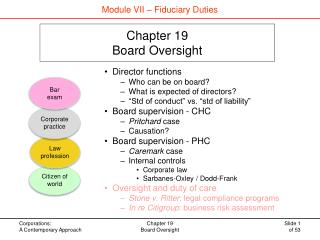 Chapter 19 Board Oversight