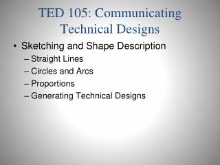 TED 105: Communicating Technical Designs