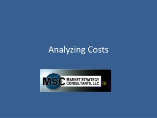 Analyzing Costs