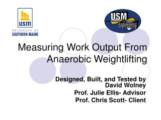 Measuring Work Output From Anaerobic Weightlifting