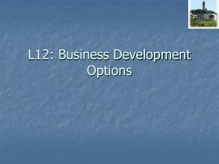 L12: Business Development Options